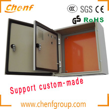 High quality small waterproof metal electric meter box with double cover and lock