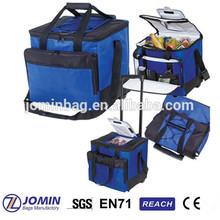 blue snow outdoor easy access roller cooler bag
