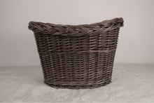 black round hand knitting wicker bicycle basket