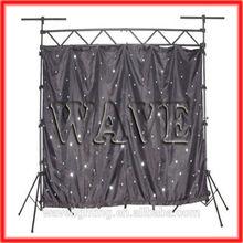 WLK-1W Black fireproof Velvet cloth white leds curtain backdrop indoor club led lighting