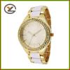 Custom logo fashion new woman alloy within diamond watch