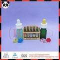 venda quente apontou pipeta de vidro do óleo essencial de garrafa de vidro colorido frasco de 10ml