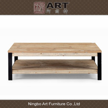 European antique wooden recycled fir coffee table