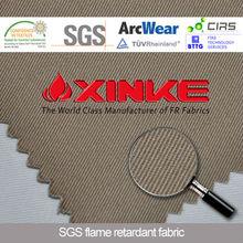 EN531 fire repellent 100%cotton fabric for garments
