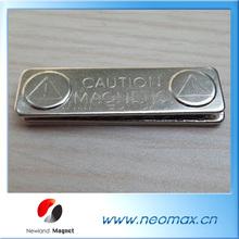 Metal Plate Permanent NdFeB Magnetic Badge