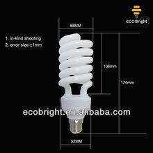 half spiral 40W energy saving lamp bulbs