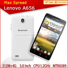 "5"" IPS MTK6589 Quad Core 512M RAM+4G ROM Dual SIM 3G Android smart phone Lenovo A656 top mobile phone brands"