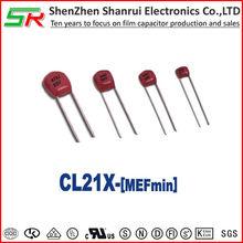 CL21X Metallized polyester film capacitor -mini shape/SR