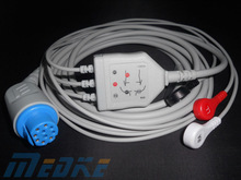 hot sale ecg leadwire GE Datex Ohmeda medical monitor 3 lead snap ecg cable
