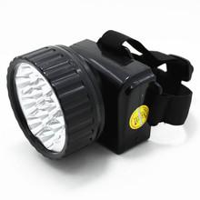 12led bulb plastic rechargeable led head light , coal mining led head light