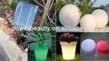 Solar şarj led ışıklar topu/20cm-60cm su geçirmez IP68 güneş renk değiştiren led ışık topu/güneş açtı topu bahçe ve ev