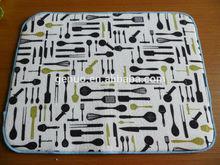 Microfibre dish mat cloth