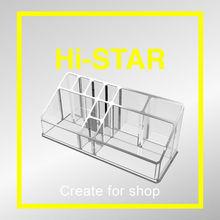 HA418 wholesale acrylic cosmetic makeup eyelash display case stand