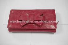 fashion cow-hide saffiano leather bow tree fold/tri-fold/folding card slots /women/lady wallets/purse