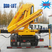 China famous brand SQ4ZA2 4 ton 8m new cheap knuckle boom lift floating portable crane used lorry loading sales