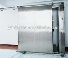 Sliding door for blast freezer cold room