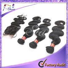 """1 Piece Lace Top Closure with 3Pcs Hair Bundle,4pcs/lot,Brazilian Virgin Hair Extension,Body Wave 12""""-28"""" bleached knots"""