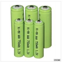 750mAh AAA 4.8v nimh battery pack for small household appliances