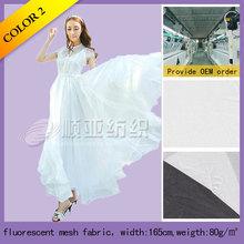 100% Polyester fluorescent mesh fabric for wedding dress