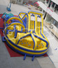inflatable obstacle course game with 3 parts detachable