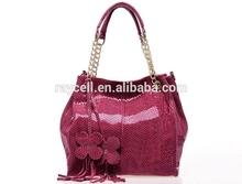 2014 china manufacturer designer snake skin genuine leather women handbag/ fashion lady shoulder bag