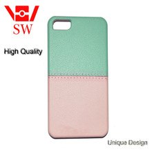 Fresh quietly elegant combination of light green and light pink cell-phone case