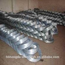Zingage fil de fer galvanisé à chaud ISO9001 usine vente chaude