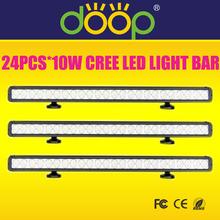 12-24V single row cree 240W led light bar high power led