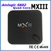 Promotional amlogic s802 quad core MXIII lcd tv box