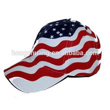 Hot American Flag Stars and Stripes Baseball Cap Wholesale/Sport Cap