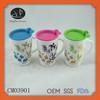 ceramic coffee cup with lid,coffee mug cups with plastic lid