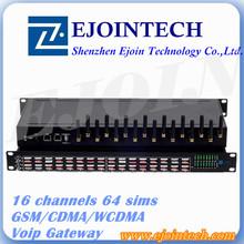 12 Months Warranty!!! Ejoin 16 port / channel GSM Goip gateway Voip Gateway 64 sim 3g gateway router