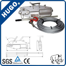 Hand Pulling Wire Rope Winch, Manual Cable Hoist with CE