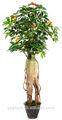 artificial ginseng raiz da árvore de cereja bloom frutos da árvore bonsai artificial de plantas e flores 2014 venda quente