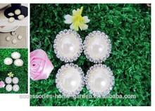 Rhinestones Round Acrylic Pearl Bead Cluster Diamante Wedding DIY Craft
