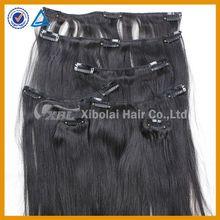 XBL natural malaysian 30 inch human hair extensions clip in