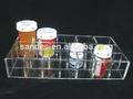 Acrílico divisores de gaveta de plástico transparente divisores de gaveta