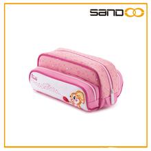 Wholesale fashiion school pencil pouch, promotion cute kids 3 zipper pencil case