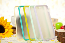 2014 hot selling TPU bumper with PC bottom case for iphone5s,2colors both forsted hard plastic case for iphone