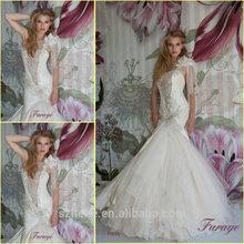 JM.Bridals CY3264 Terrific Mermaid One shoulder Taffeta Tulle Beaded Crystal Pearls 2014 new style wedding dress
