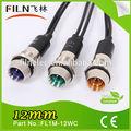 Wenzhou fl1m-12wc 50pcs/lot 12mm agujero del panel de metal del tráfico baton/de señal de luz
