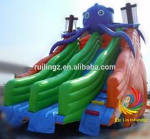 commercial grade kids slide, inflatable animal slide, hippo inflatable beach slide