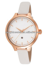 2014 High-grade big rose case novelty leather watch women gold watch