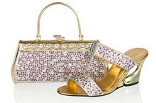 Wholesale silver rhinestone bridal low heel wedding shoes