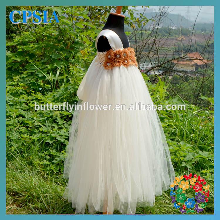 avorio color crema legato bambina abiti per bambini disegni principessa abito da sposa