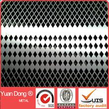 Diamond shaped opening perforated metal sheet