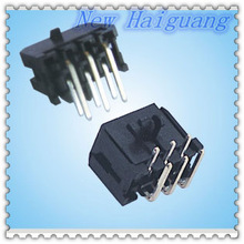 Micro-Fit 3.0 Family 3.00mm Pitch Right Angle Headers,Dual Row Plug Surface Mount Compatible with Pegs