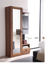 2014 Antique dressing mirror with drawer was made from E1 solid chipboard and aluminium mirror for the bedroom