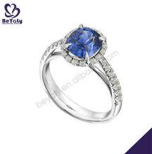 Venta al por mayor de encargo anillo de plata, anillo de obsidiana