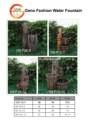 vários tipos de bambu fonte de água para a decoração do jardim